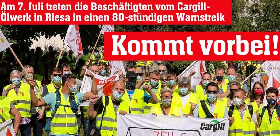 Warnstreik Cargill