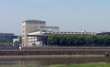 Der sächsische Landtag von der neustädter Seite aus gesehen