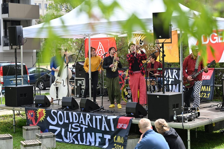 "Band ""Offbeat Cooperative"" zum 1. Mai 2021"