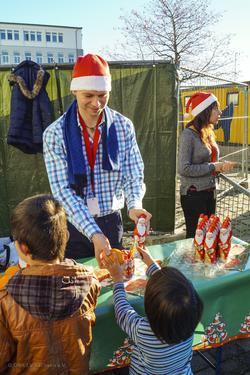 Nikolaustag Flüchtlingscamp
