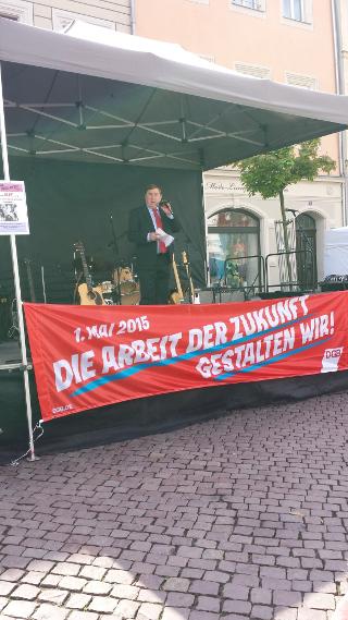 André Hahn auf Kundgebung in Pirna