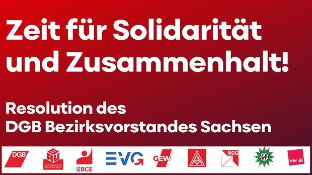 Zeit für Solidarität und Zusammenhalt
