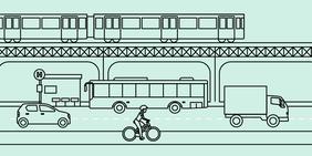 Bahn, Auto, Bus, Fahrrad: Wie sieht der Verkehr der Zukunft aus?