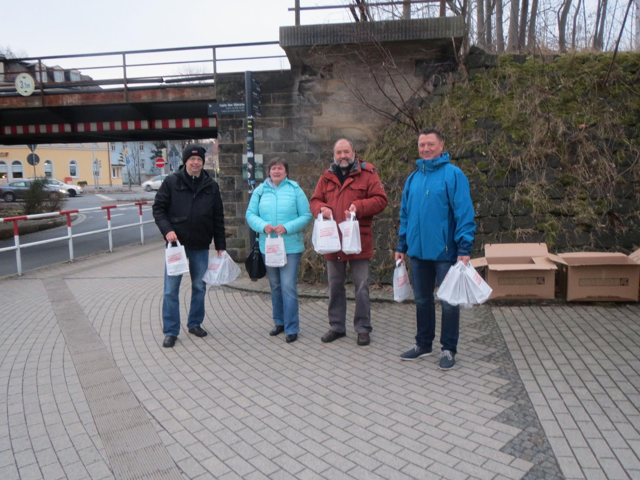 Pendleraktion in Pirna