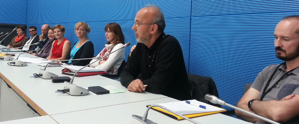 Gesprächsrunde im Bundestag