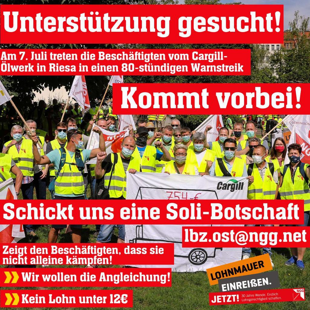 Soliaufruf-Cargill