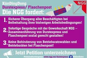 Petitionsaufruf bunt