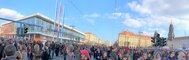 Demo auf der Wilsdruffer Straße